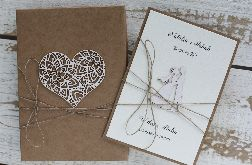 Oryginalna kartka ślubna i pudełko 4y