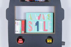 Półka na książki zabawki AUTOBUS | czarny