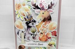 Kartka dla dziewczynki Zwierzątka UDP 038