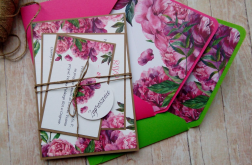 Zaproszenia jednokartkowe flowers # 12
