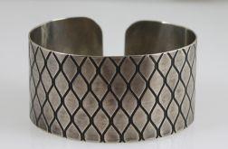 Metalowa bransoleta - smocza łuska 151223-08
