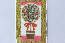 Kartka świąteczne drzewko