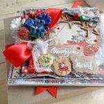 Kartka świąteczna w pudełku VINTAGE #3 - Detal2