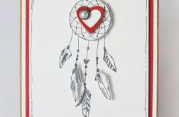 Walentynka - łapacz snów z sercem