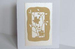 Kartka okolicznościowa - złote róże