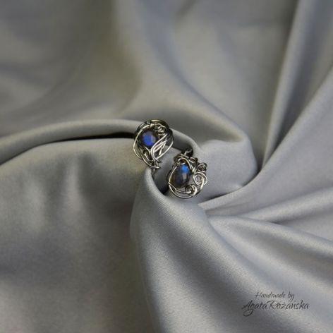 Regulowany pierścionek niebieski labradoryt