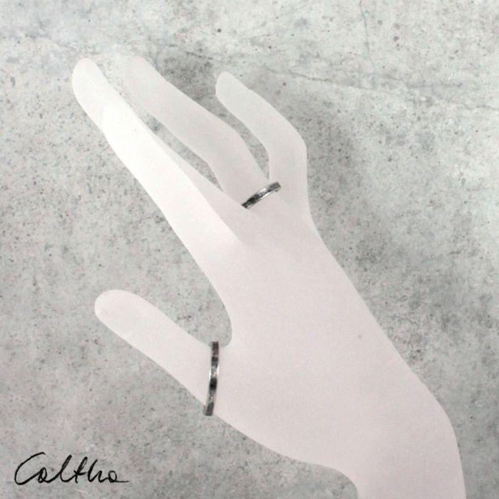 Nieregularna - srebrna obrączka  200131-01 - Srebrne pierścionki