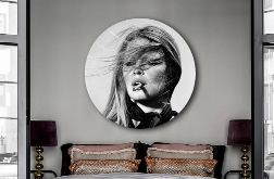 Brigitte Bardot - Obraz na okrągłej ramie