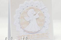 Kartka z aniołkiem na Komunię KK2004