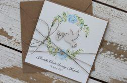 Kartka na chrzest z kopertą - życzenia i personalizacja 2t