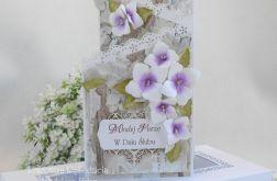 Ślubna kartka kaskadowa w pudełku 02