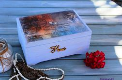 Drewniana skrzynia, kufer, prezent, zdjęcia