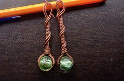 Kolczyki magiczne latarnie (zielone)