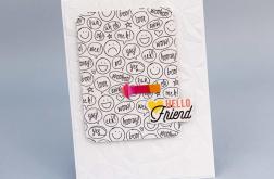 Kartka dla przyjaciela Hello Friend