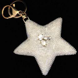 Brelok gwiazda do kluczy do torebki
