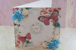 Kartka 60 urodziny + koperta