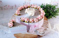Tort papierowy na słodycze dla Pary Młodej