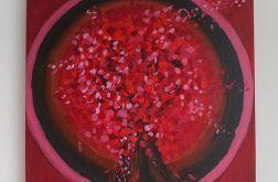 Obraz medytacyjny - Drzewo - Czakra podstawy - akrylowy - akryl na płótnie