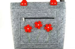Red flowers in pocket