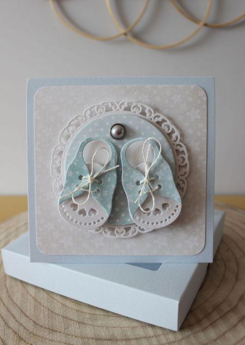Kartka Little Shoes - Blue - Kartka