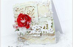 Kartka świąteczna śnieżne pastele 3
