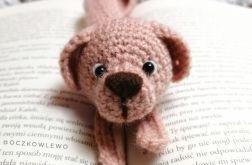 Zakładka do książek - Szydełkowa - Pies