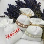 3 woreczki lawendowe -  rustykalne