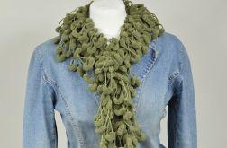 pom-pon scarf  - khaki