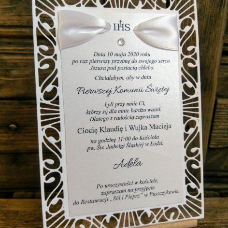 Zaproszenie ażurowe