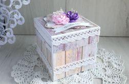 Exploding box ślubny kwiaty, prezent ślubny