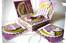 Fioletowe pudełko ślubne