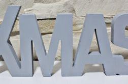DUŻY Napis drewniany XMAS litery 3D