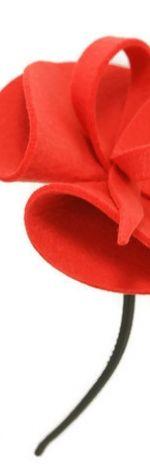 Fascynator czerwony 10cm