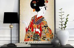 Plakat Gejsza Japonia 50X70 B2