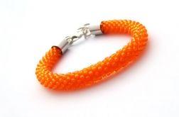 Bransoletka wąż pomarańczowa