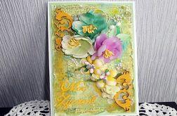 Mediowa kartka w zieleni
