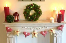 Świąteczna girlanda - piernik serca