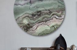 Abstrakcjonizm - obraz w okrągłej ramię