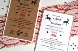 Świąteczne zaproszenia ślubne