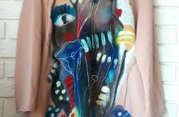 Piękna sukienka ręcznie malowana