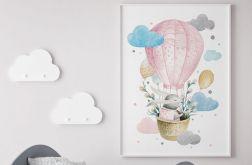 Plakat odlotowy zajączek różowy 50x70 cm