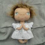 ANIOŁEK lalka - dekoracja tekstylna, OOAK/25 - tak wyglądam w całości