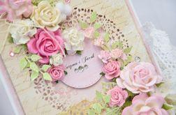 Kartka ślubna z bukietem