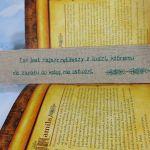 Lniana zakładka do książki - Zakładka haft