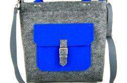 One blue pocket