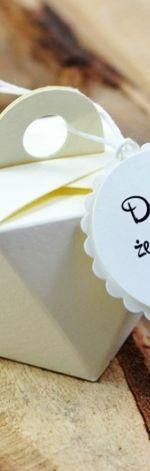 ECRU pudełeczko z etykietą dla Gości