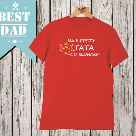 Koszulka z nadrukiem prezent dla TATY,super TATA,mąż