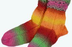 Kolorowe skarpetki -ciepłe kolorki !