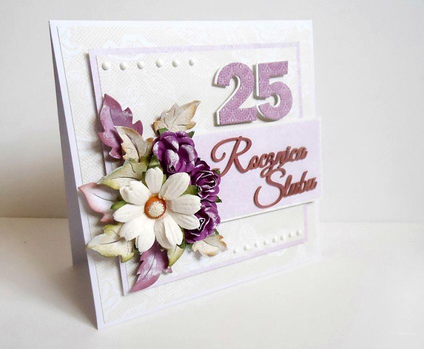 25 Rocznica ślubu 1 Cardmaking By Jolagg