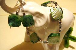Masa perłowa , duże, zielone romby